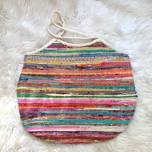 Large tote stitched bag
